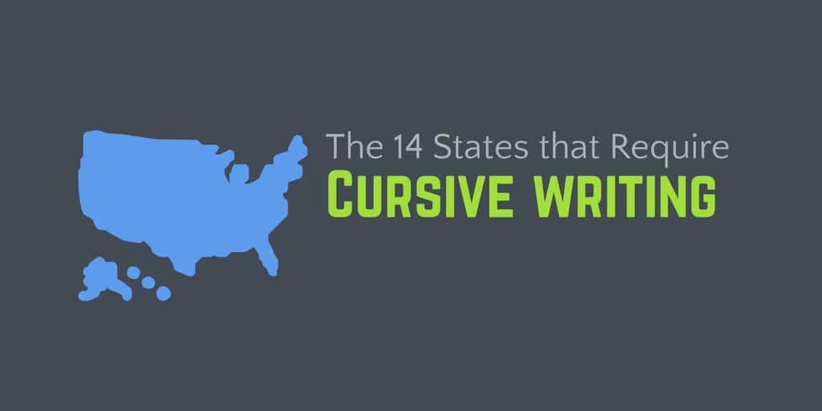 14 states that require cursive writing