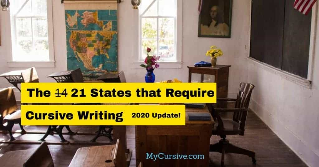 states that require cursive writing