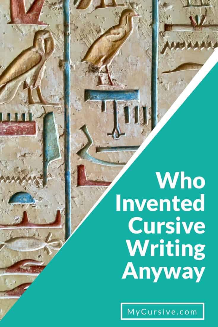 who invented cursive writing