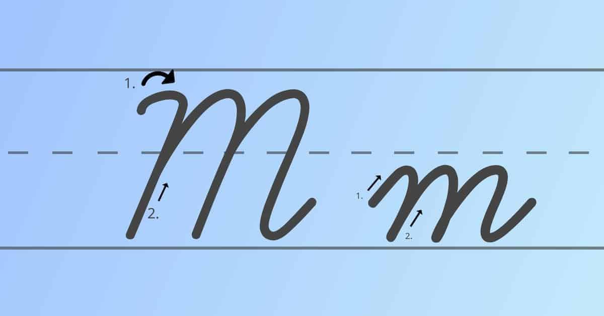 cursive m
