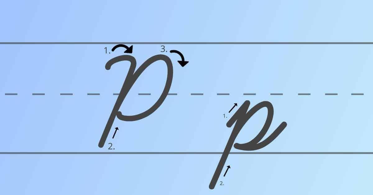 cursive p