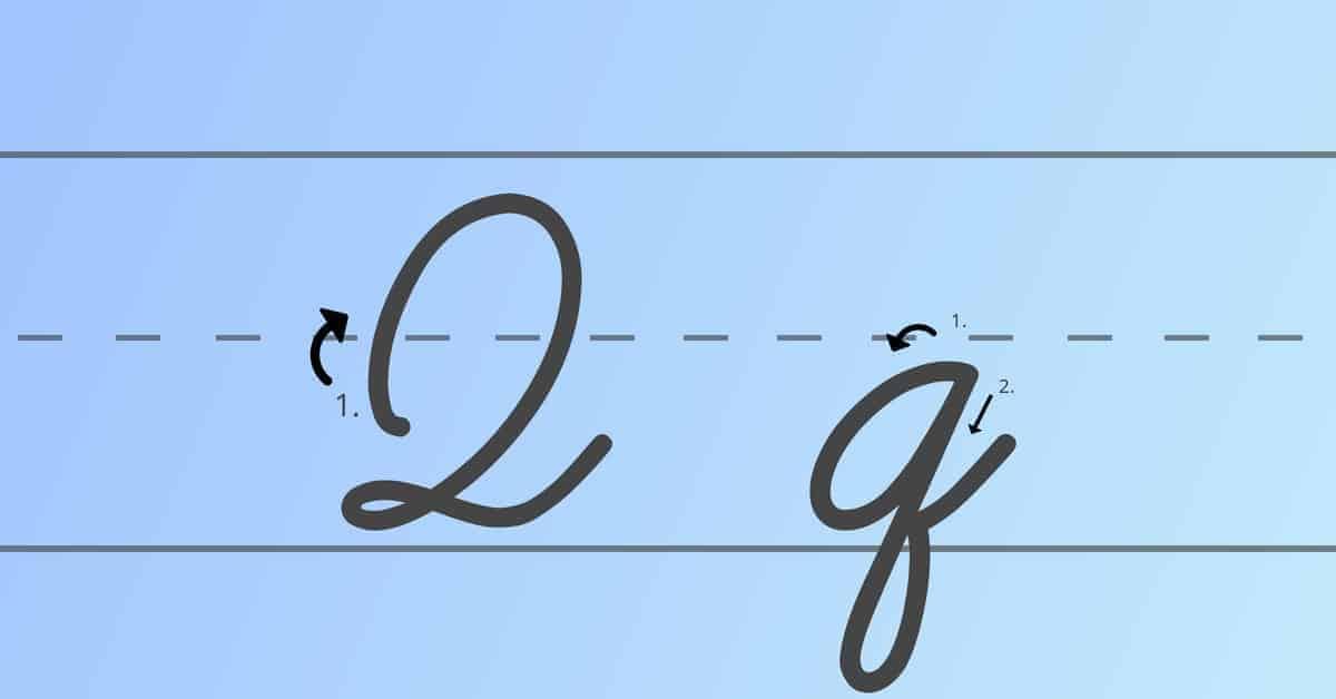 cursive q