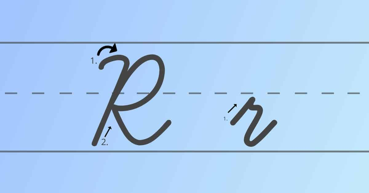 cursive r