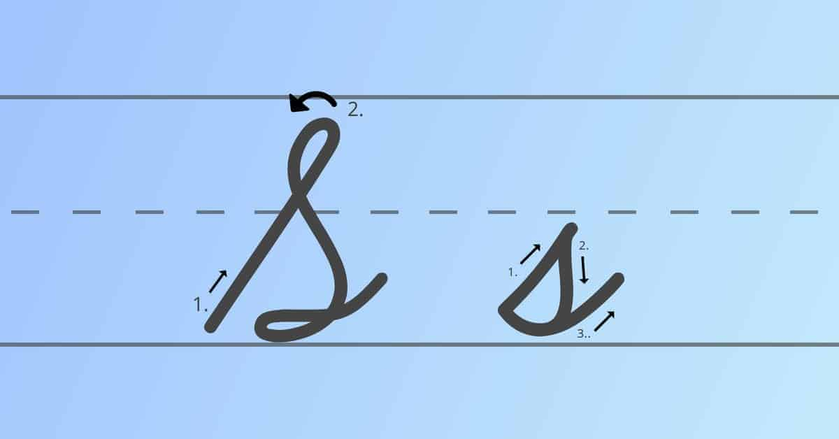 cursive s