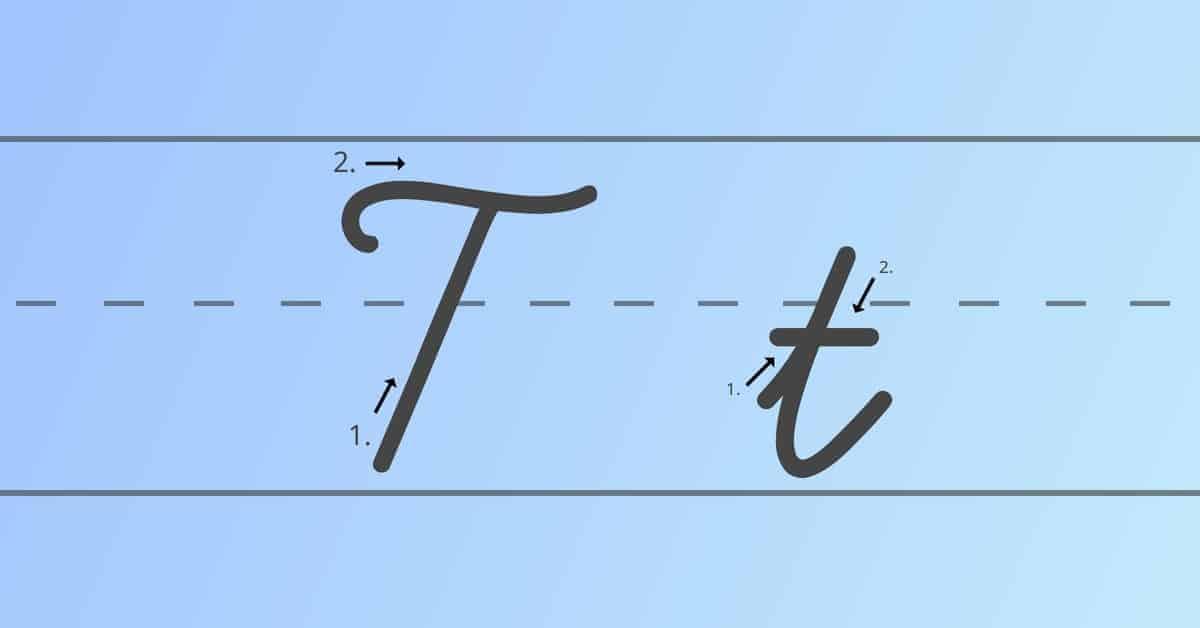 cursive t