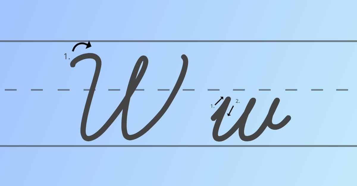cursive w