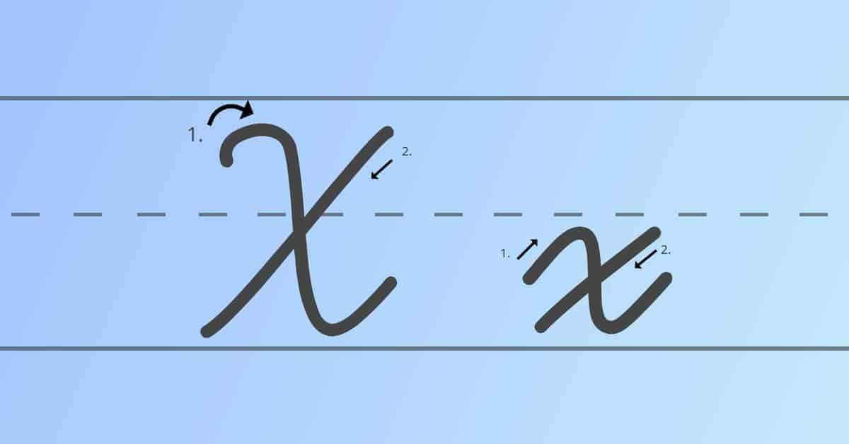 cursive x