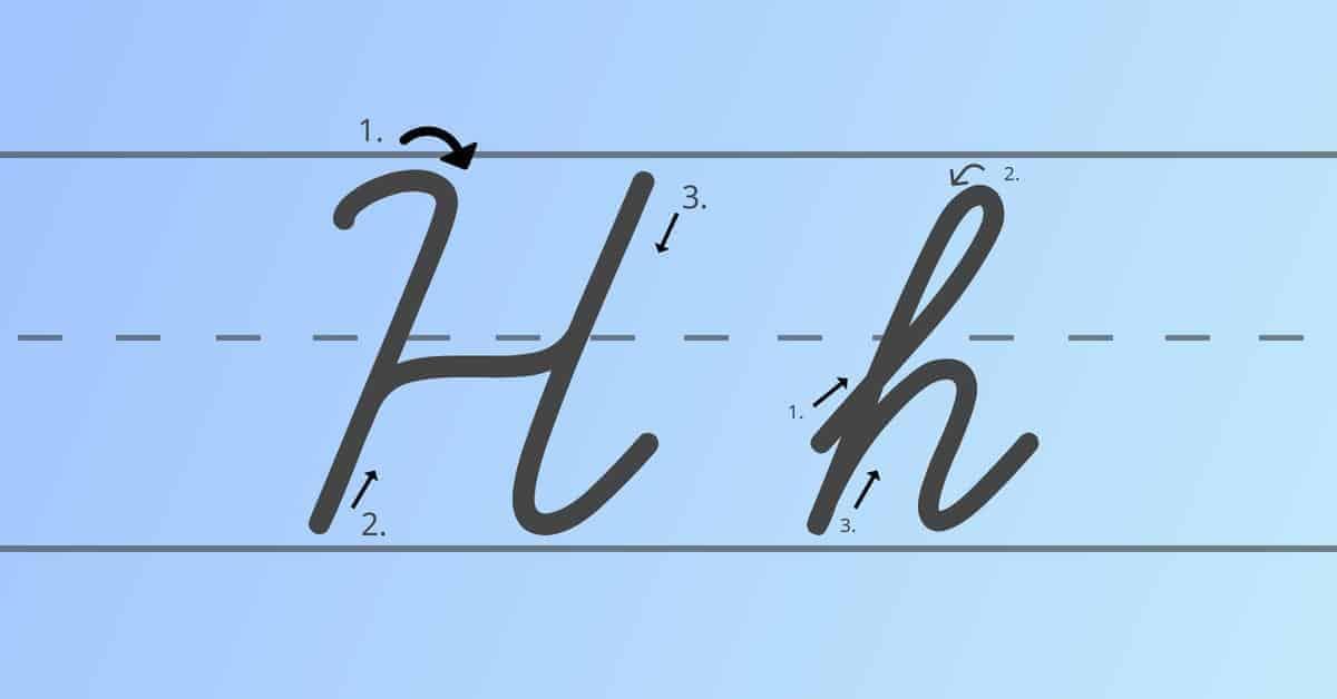 cursive h