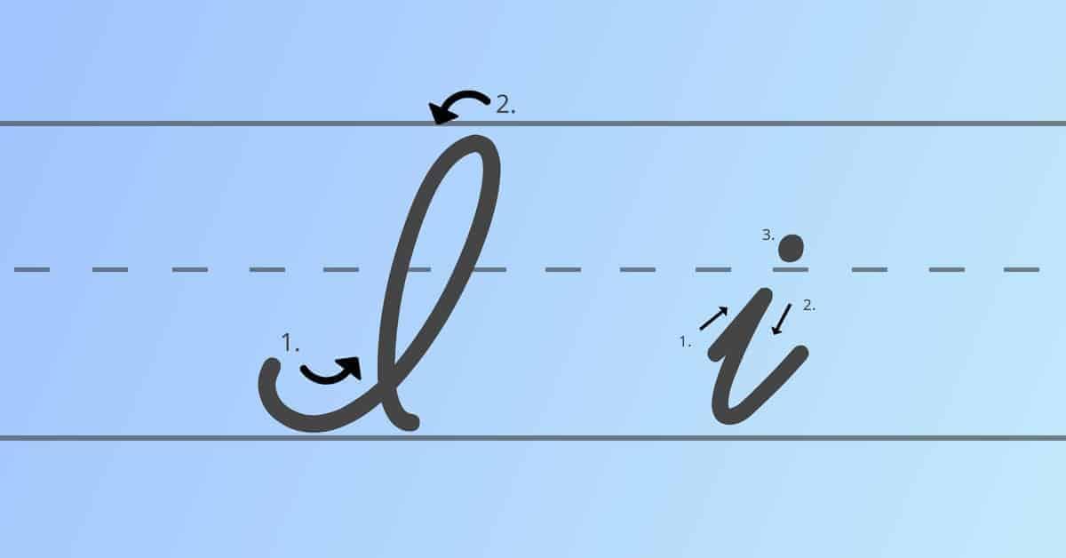 cursive i